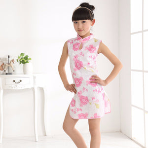 2-10Y Girls Cheongsam Dress A200C19G