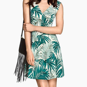 Women Tropical Dress W3001A04