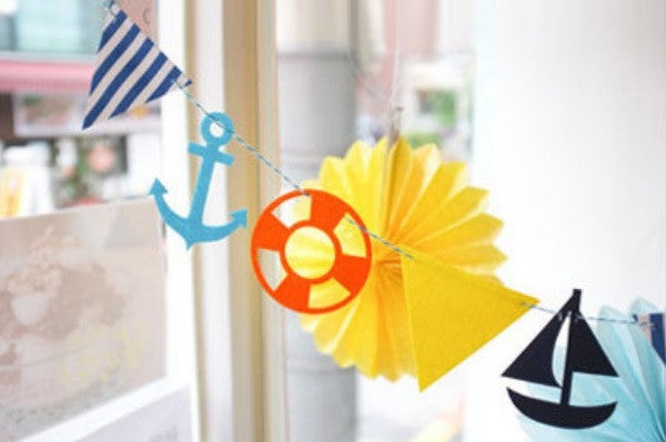 Bunting Garland Set Nautical A704A