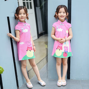 2-10Y Girls Cheongsam Dress A200C17F