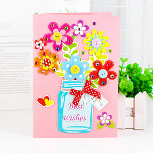 DIY Handmade Greeting Card Birthday Card Kit for Friends , Family and Teachers TD1002A