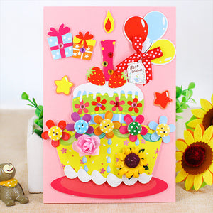 DIY Handmade Greeting Card Birthday Card Kit for Friends , Family and Teachers TD1002C