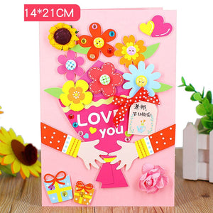 DIY Handmade Card Kit for Friends , Family or Teachers TD1002F