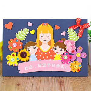 DIY Handmade Card Kit for Friends , Family or Teachers TD1002G