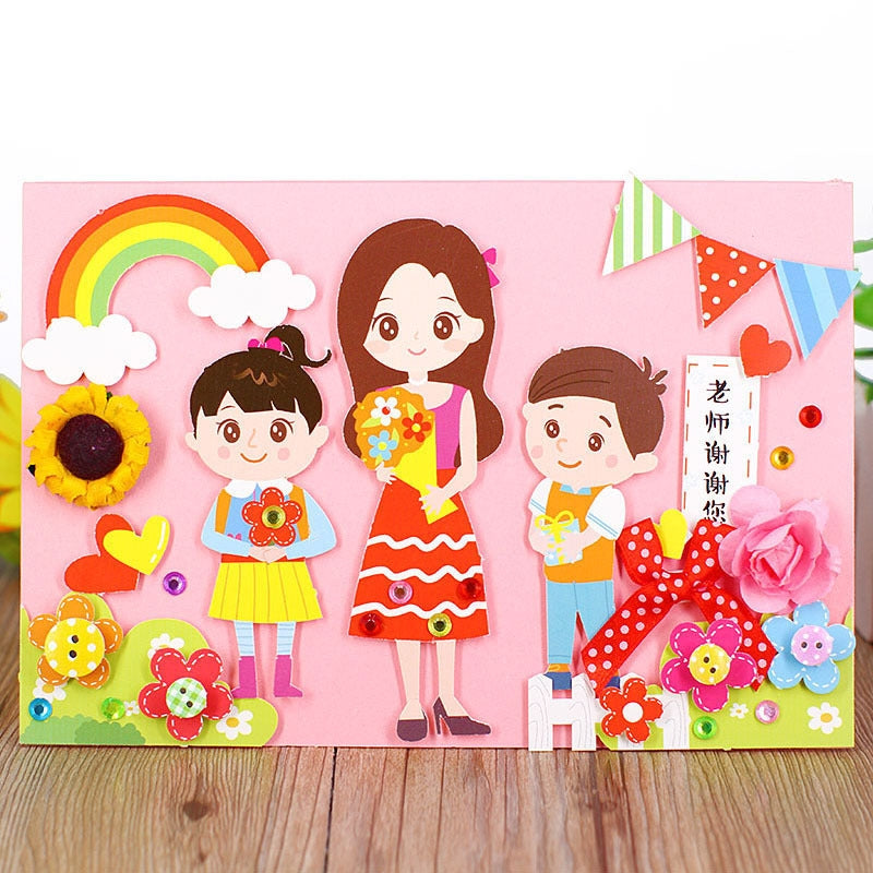 DIY Handmade Card Kit for Friends , Family or Teachers TD1002I