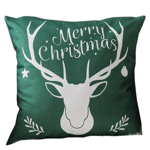 Linen Double Sided Printed Christmas Cushion Covers X658B