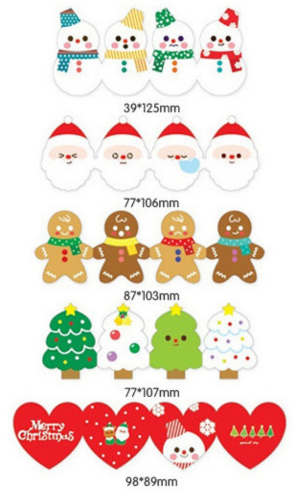 Korea design Christmas Cards Set of 5 - X781A
