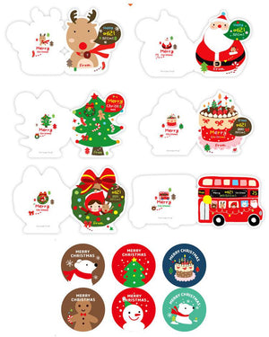 Korea Christmas Cards and Stickers Envelope Set of 6 - X781H