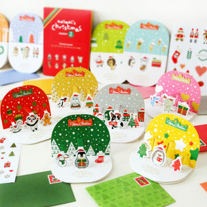Korea design Christmas Cards Set of 10 - X781J