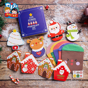 Christmas Cards and Stickers Envelope Set of 5 XM1018A