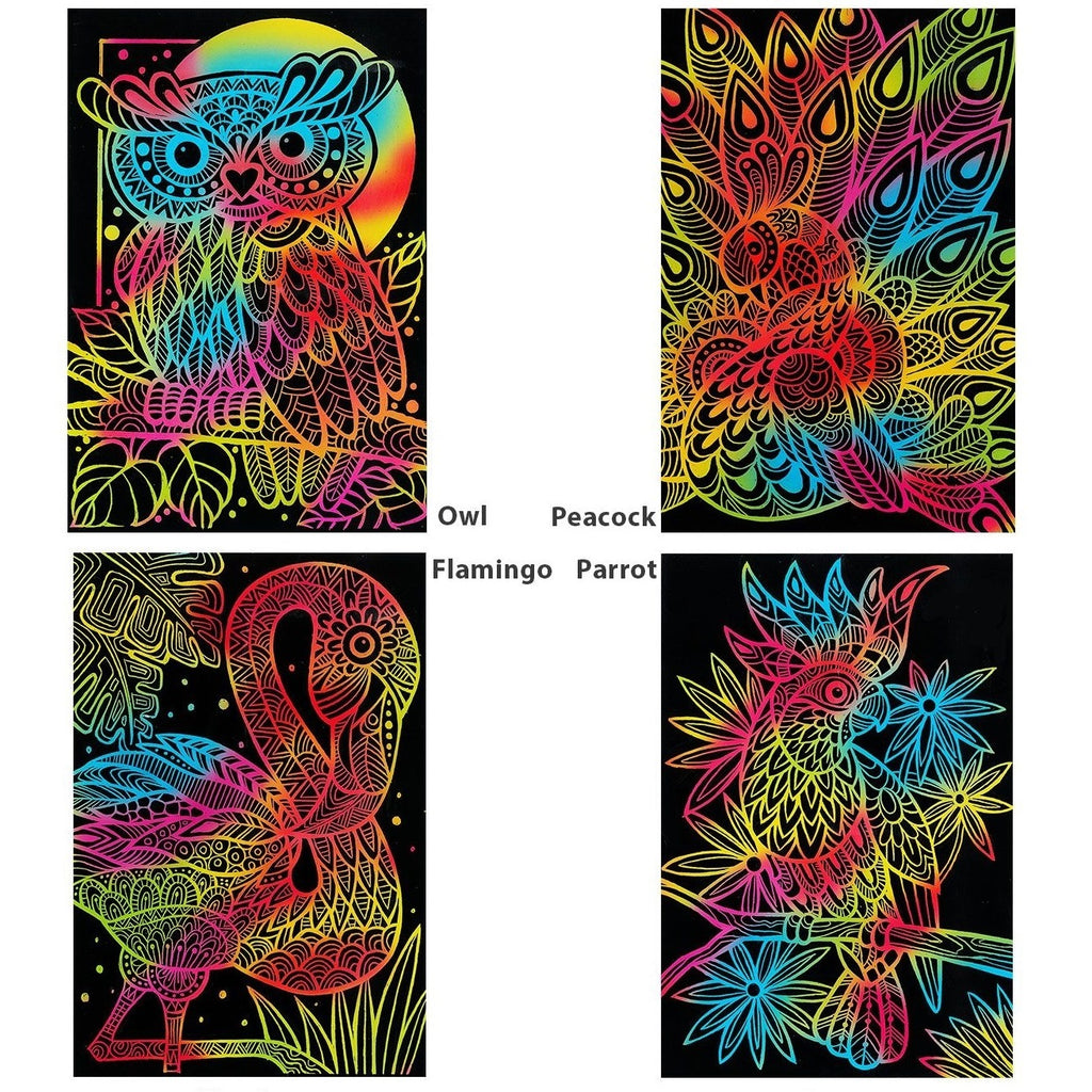 Funkids Tangle Scratch Art - Fabulous Bird Kit ZY-SCA-30