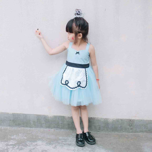 1-7Y Girls Alice Wonderland Pinafore Tulle Dress G240P