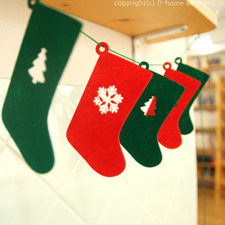 Christmas Socks Garland A722D