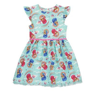 1-7Y Girls Shimmer and Shine Princess Dress A20131G