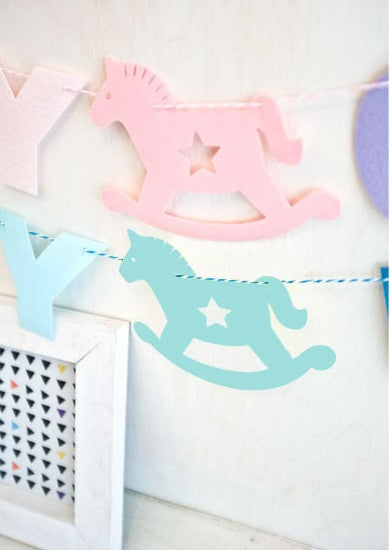 Bunting Garland Set Baby Girl A704M / Baby Boy A704N