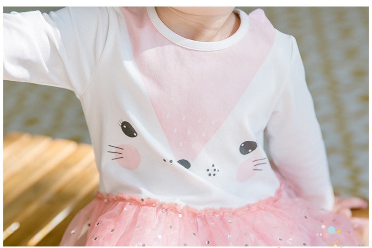 2-4Y Bebezoo Girls Pink Kitty Dress K2016H