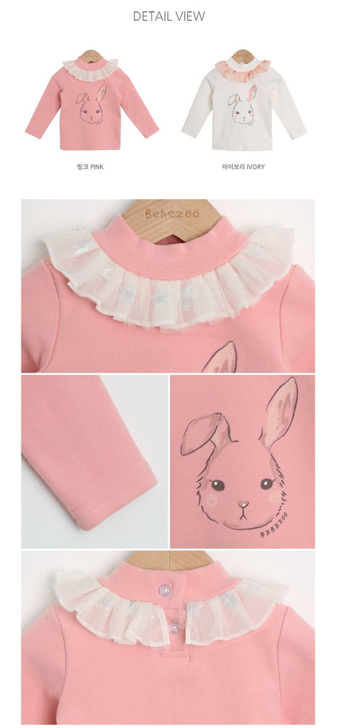 1-4Y Bebezoo Girls Bunny White Top K2021D