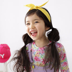 100% Handmade Kids Yellow Fabric Hairband A323G102E