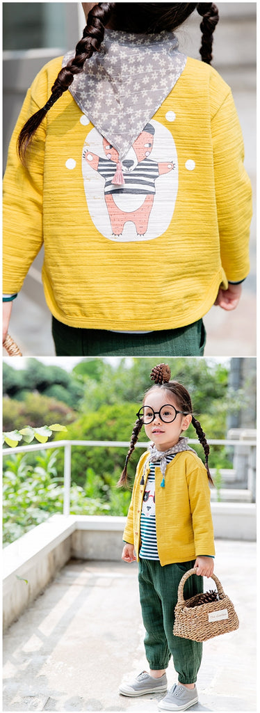 1-4Y Bebezoo Kids Yellow Jacket A2084A