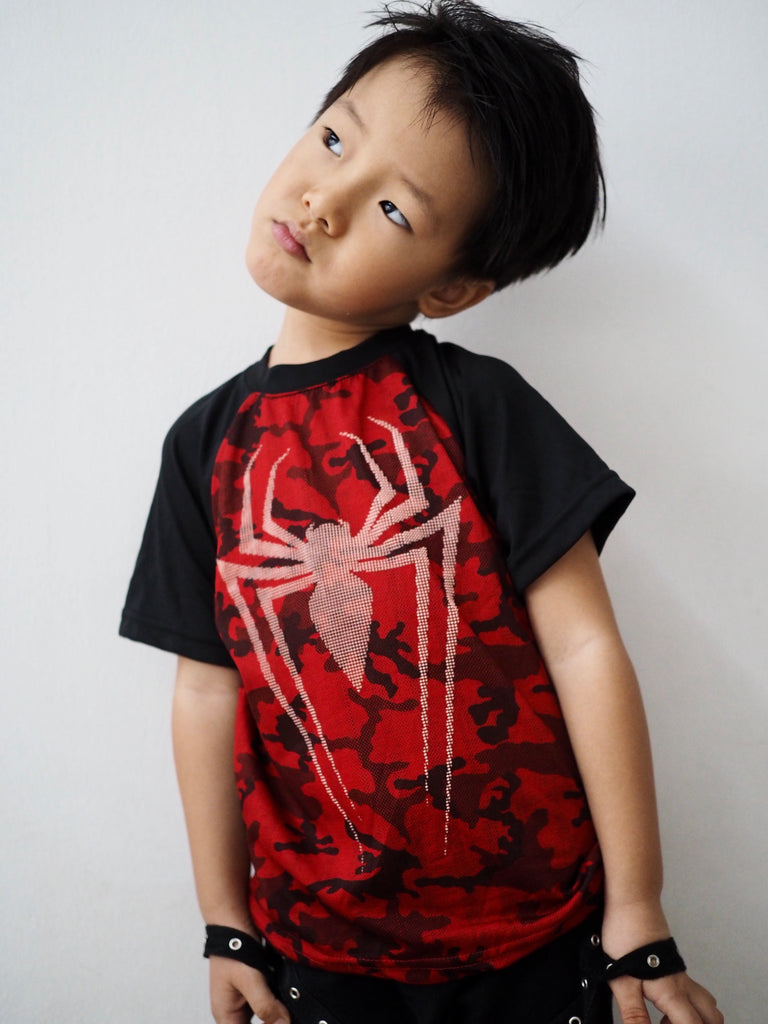 3-8Y Boys Short Sleeve Spiderman Shirt A10431A