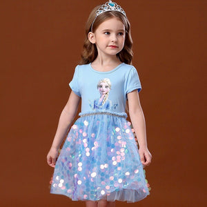 Girls Princess Sequins Dress G20133H