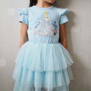2-8Y Girls Cinderella Tulle Dress G20133E