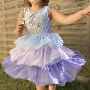 Girls Frozen Layers Tulle Dress A20135K
