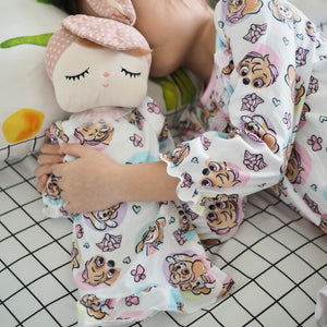 Girls Sleepwear Night Gown with Doll Gown Set A40411E