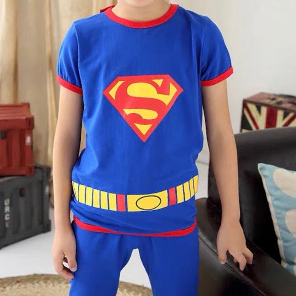 Boys Superman Top and Bottom 2pcs Set A1061E