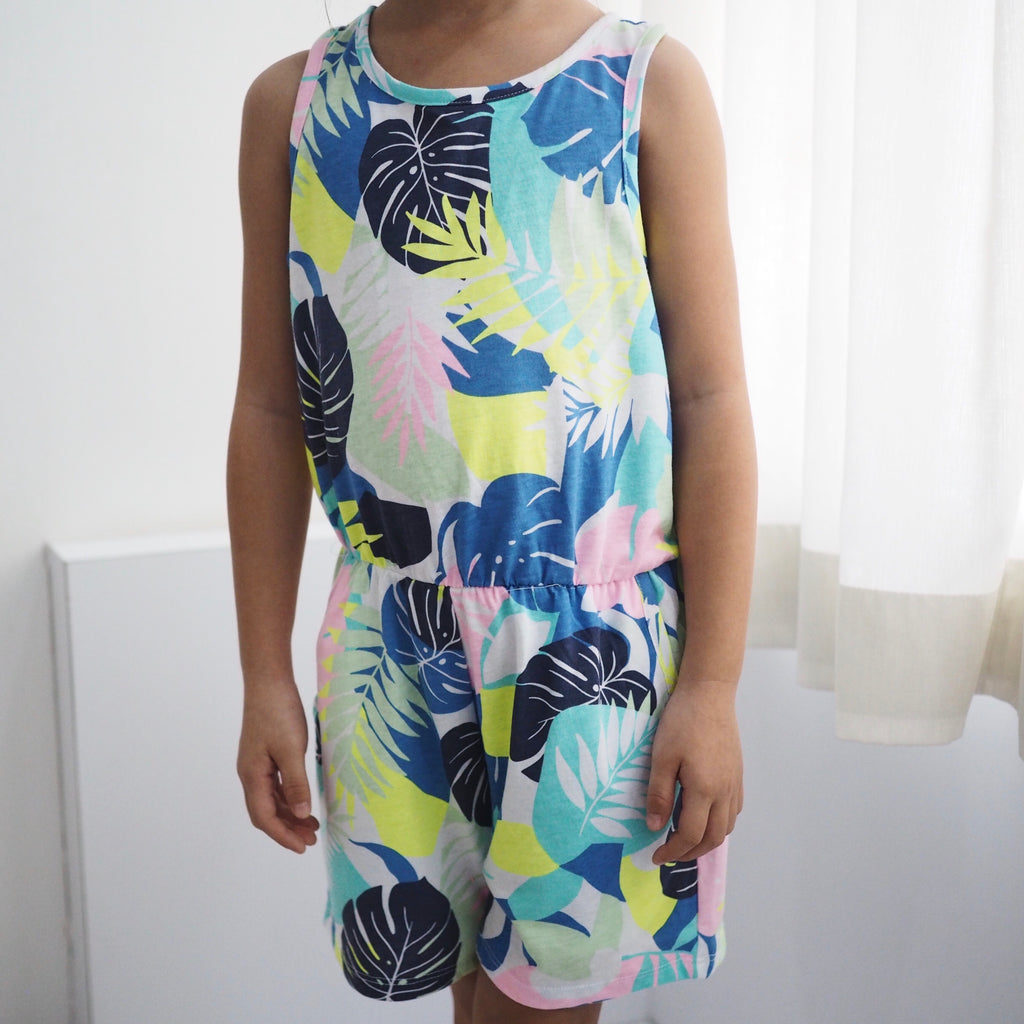 6-16Y Girls Summer Tropical Romper A20511A