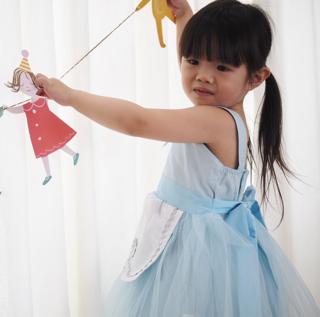1-8Y Girls Pinafore Tulle Dress A20125H