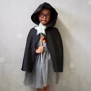 Harry Potter Sequins Dress with Hoody Cape A20133K