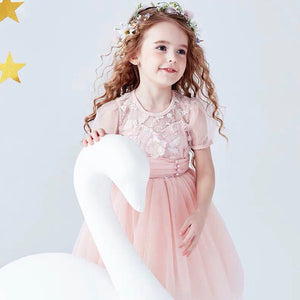 3-10Y Girls Puffy Sleeves Princess Dress G20128K