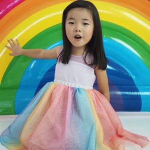 2-8Y Rainbow Tulle Dress G20126H