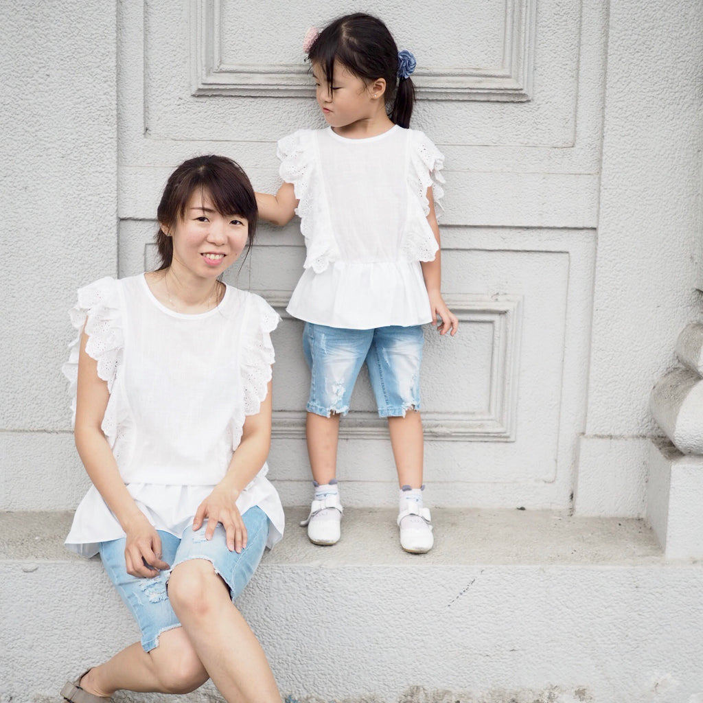 26cfbfa225a 3-15Y Girls White Ruffles Blouse G21041G (Mother size available)