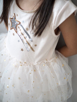 Girls Flying Stars Tulle Dress A20133F
