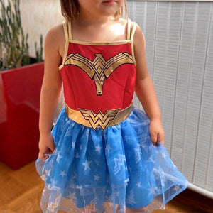 4-18Y Girls Wonder Woman Tulle Dress A20136B