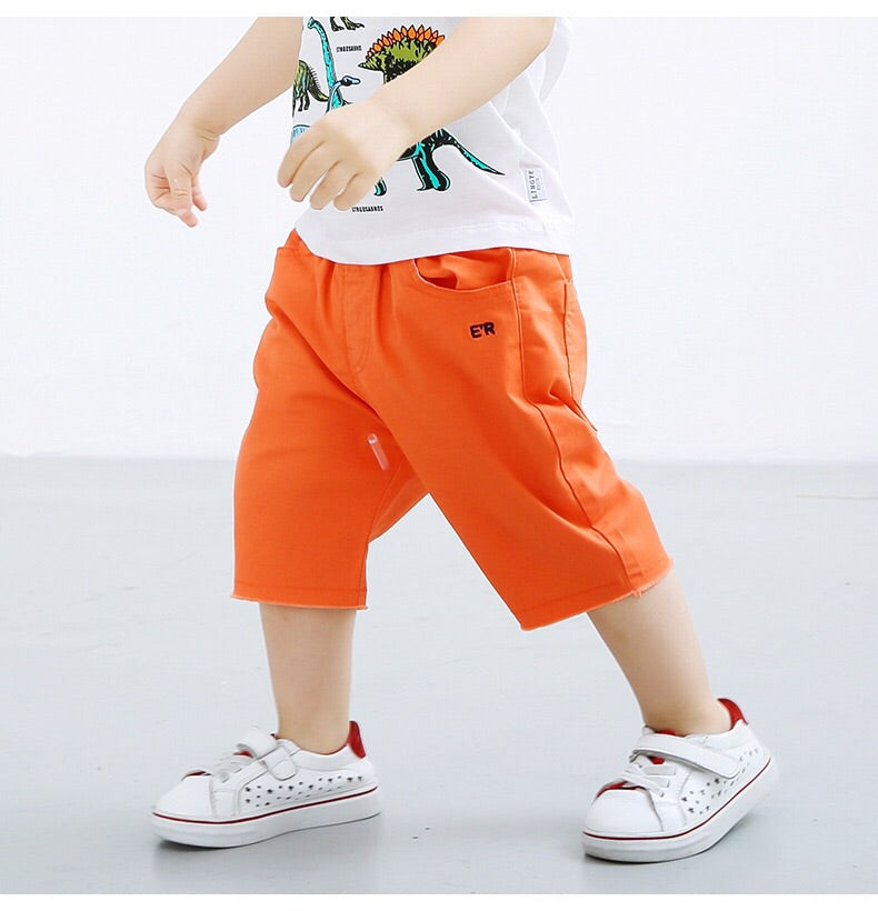 2-10Y Boys Short Cropped Pants A10314I