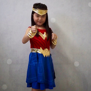 Wonder Woman Dress with Headband and Wristband A20133L