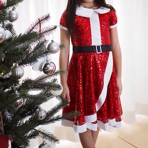 Santa Claus Sequins Dress A20134B
