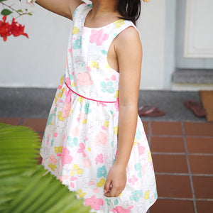 2-7Y Girls Floral Summer Dress G20127H