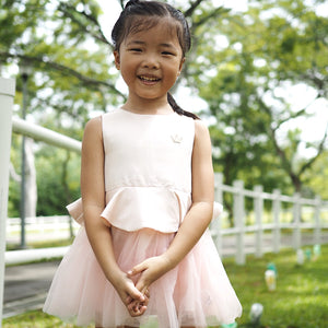0-4Y Girls Elegant Crown Tulle Dress A40611G