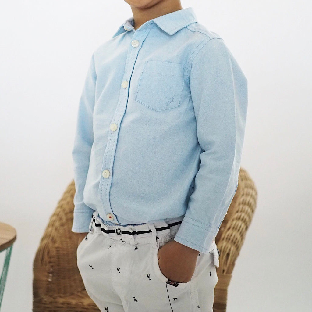 3-12Y Boys Long-sleeves Shirt A10443B