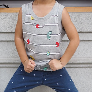 2-8Y Boys Sleeveless Shirt A1021A