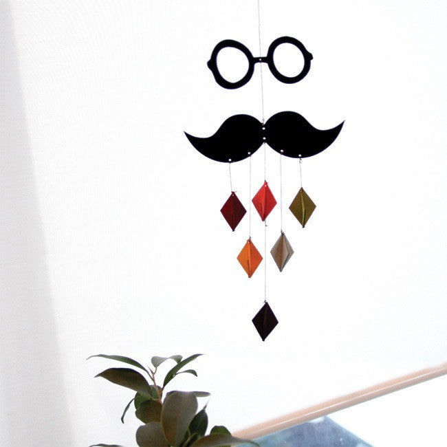 DIY Mobile Ornament Set Mustache Glasses A702H