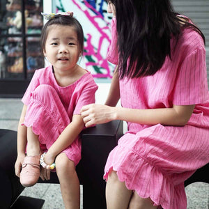 3-15Y Girls Pink Maxi Dress G2103C (Mother size available)