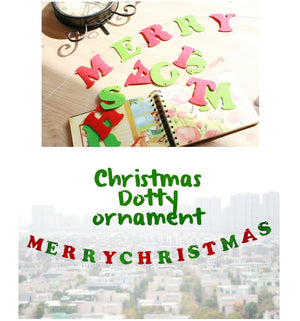 Christmas Letters Garland A722P