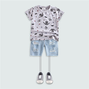 3-10Y Korea Design Boys shirt A1046P
