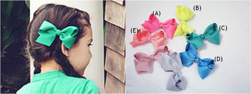 100% Handmade Kids Ribbon Hairclips