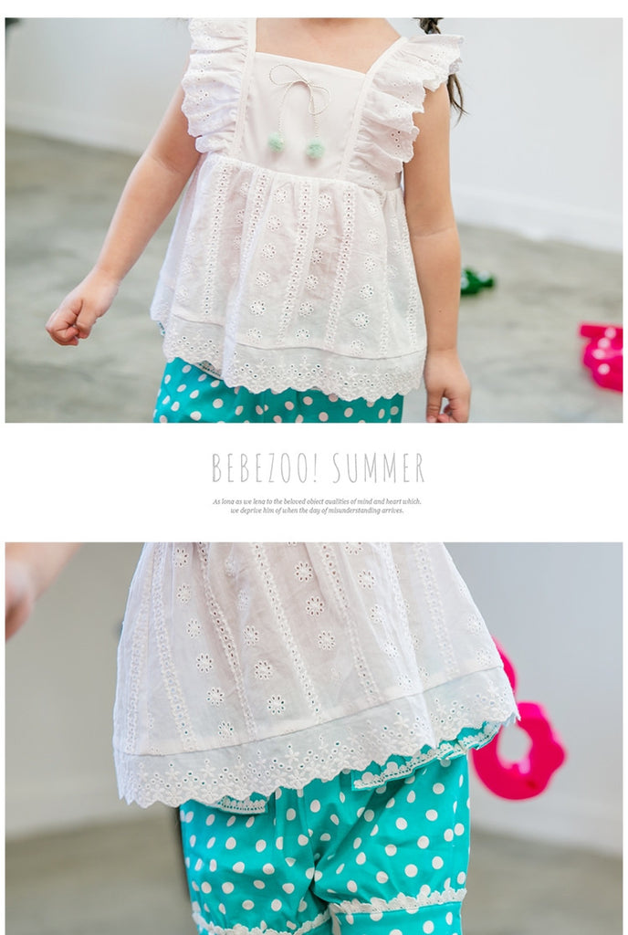 2-4Y Bebezoo Girls White Ruffles Tops K2011I